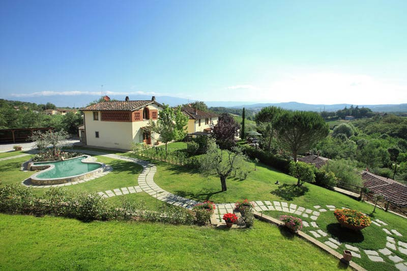 Tuin van trouwlocatie agriturismo le Mura Toscane