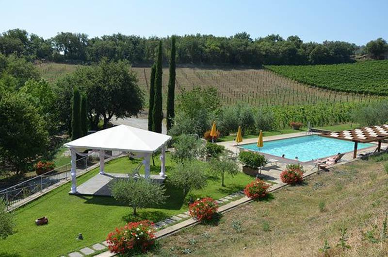 Zwembad trouwlocatie Agriturismo Le Mura