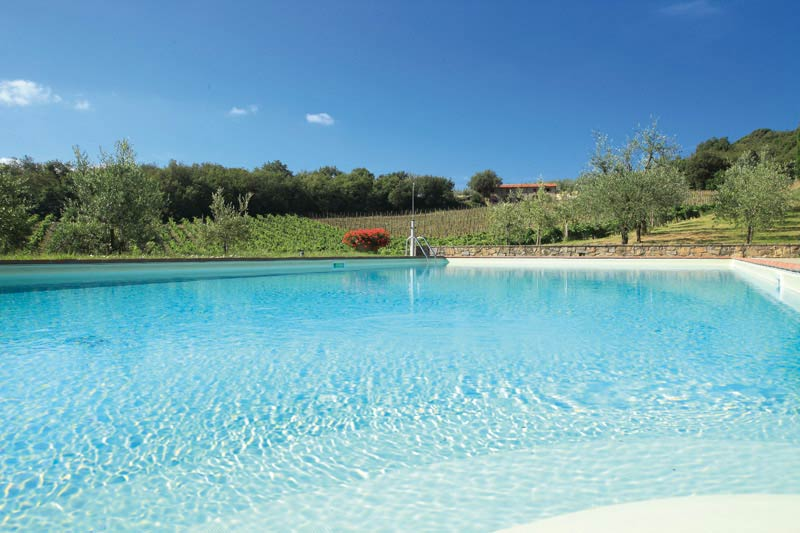 Zwembad van Agriturismo Le Mura Toscane
