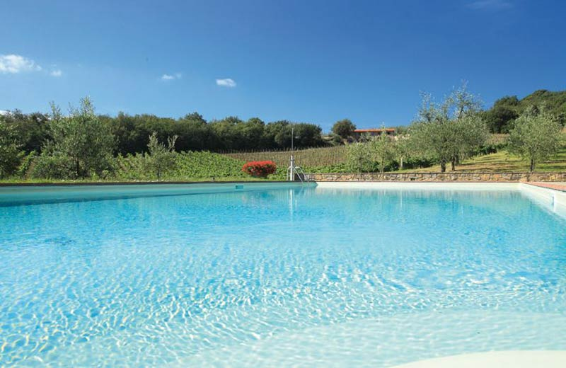 Zwembad van Trouwlocatie Le Mura in Toscane
