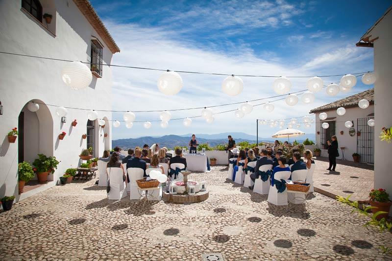 Ceremonie trouwlocatie hotel Fuente del Sol in Andalusië