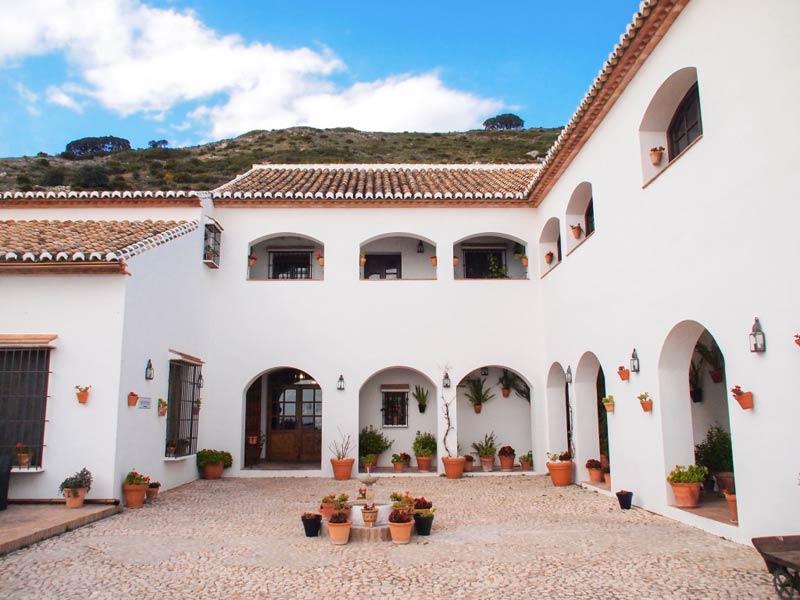 Het balkon van Hotel Fuente del Sol in Spanje