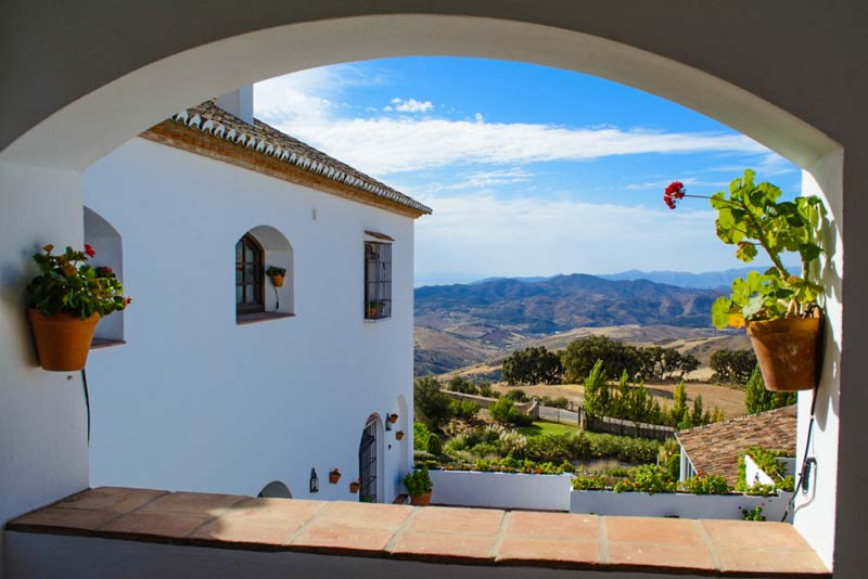 Uitzicht vanaf trouwlocatie hotel Fuente del Sol in Andalusië