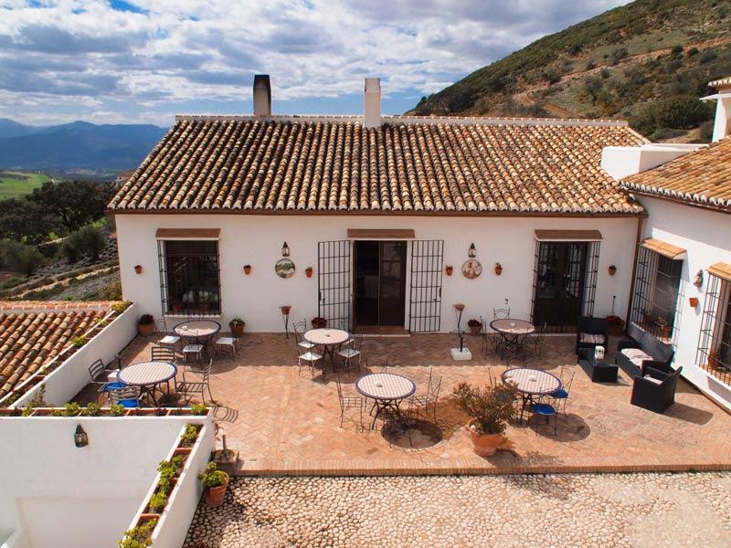 Binnenplaats het balkon van hotel Fuente del Sol in Spanje