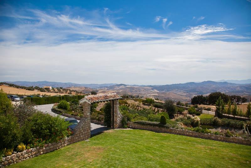 Tuin van trouwlocatie Hotel Fuente del Sol in Spanje