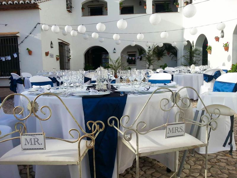 Dinersetting op hotel Fuente del Sol in Spanje
