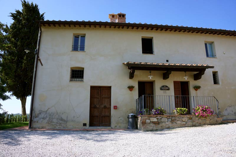 Receptie trouwlocatie Lucciolaia in Toscane