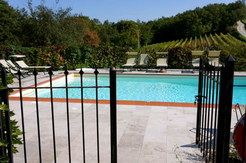 Zwembad trouwlocatie Toscane