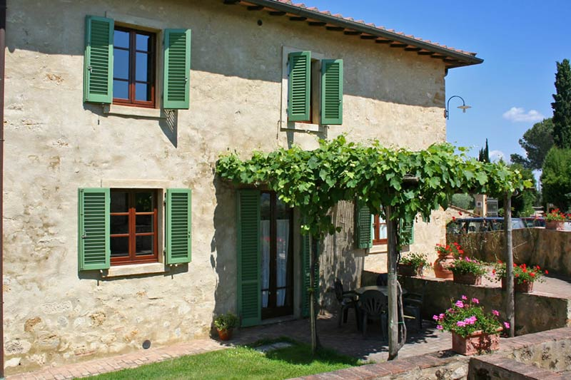 Trouwlocatie appartement Podere il Pino in Toscane