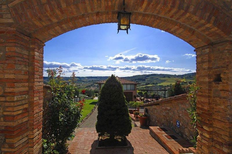Uitzicht trouwlocatie Italië