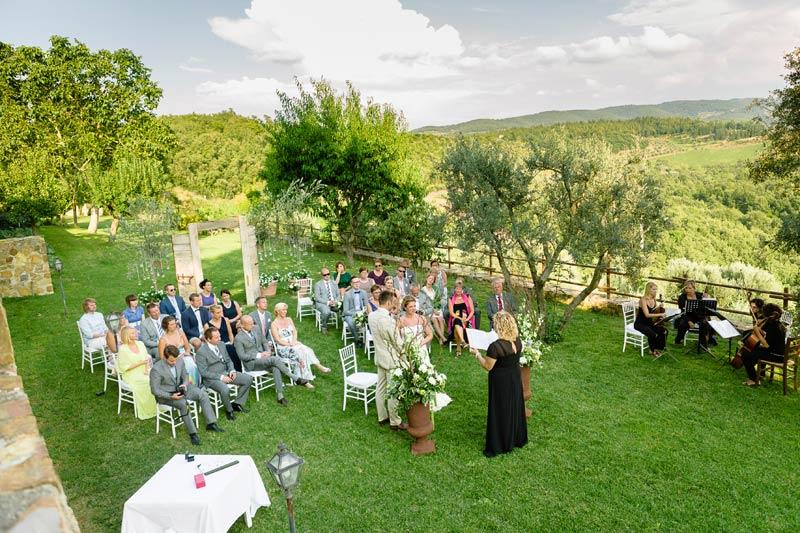Ceremonie trouwlocatie Quercia al Poggio in Italië