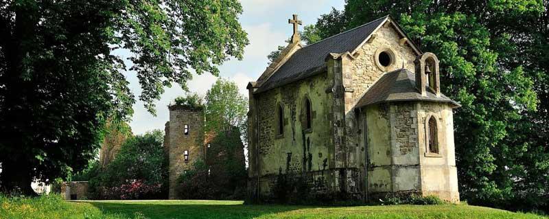 Kapel van trouwlocatie Abbaye du Palais in Frankrijk