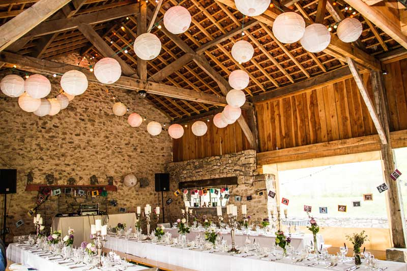 Schuur van trouwlocatie Abbaye du Palais