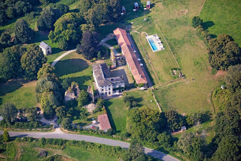Overzichtsfoto trouwlocatie Abbaye du Palais