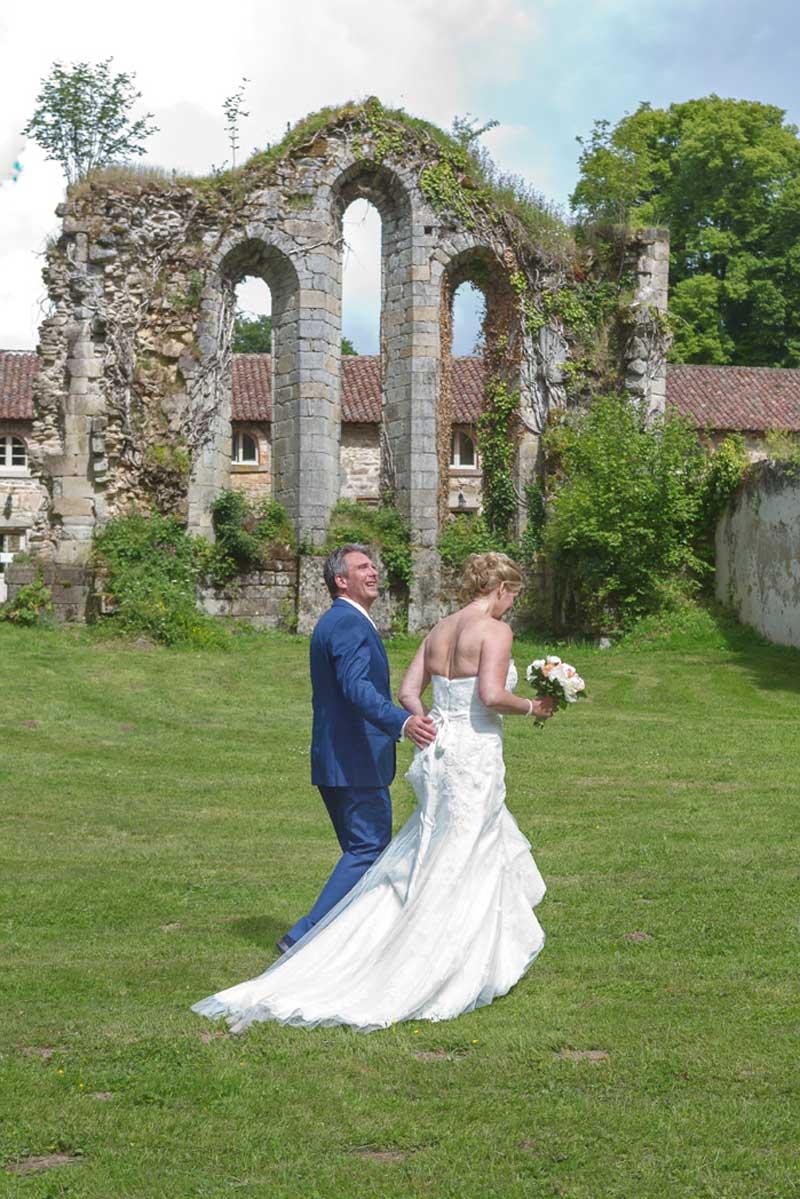 Ruïne trouwlocatie Abbaye du Palais