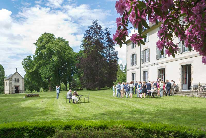 Tuin trouwlocatie Abbaye du Palais
