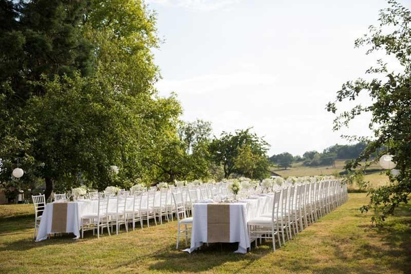 Diner trouwlocatie Domaine de Savigny in Frankrijk