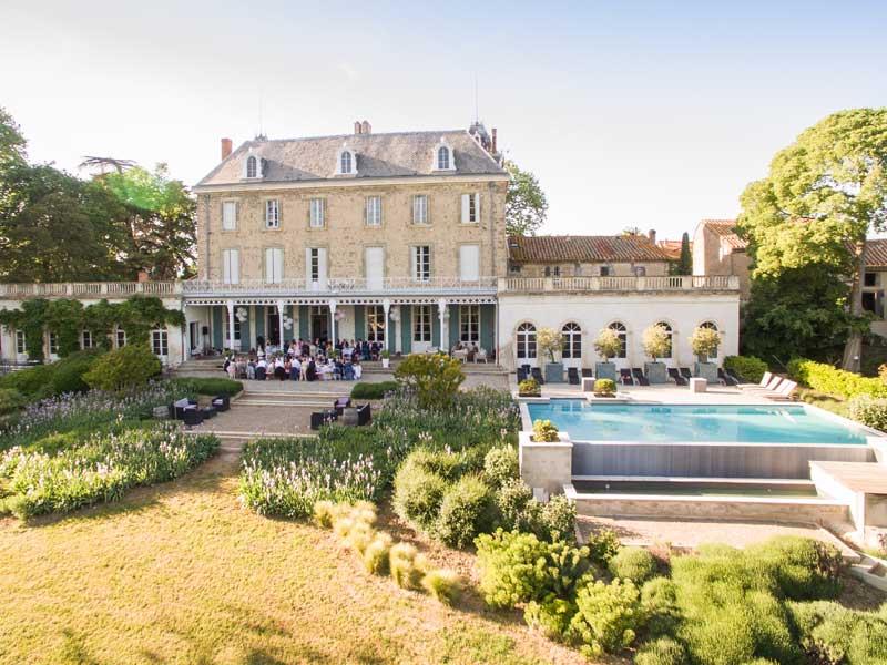 Bruiloft bij trouwlocatie Chateau de Blomac in Frankrijk