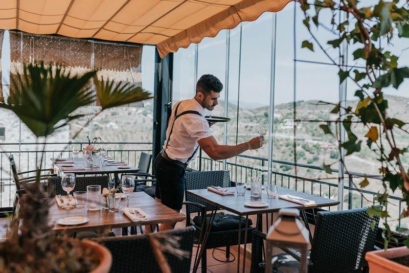 Restaurant trouwlocatie Castillo de Monda in Spanje