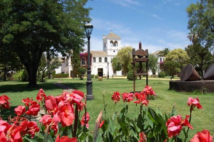 Tuin van trouwlocatie Cortijo El Esparragal Spanje