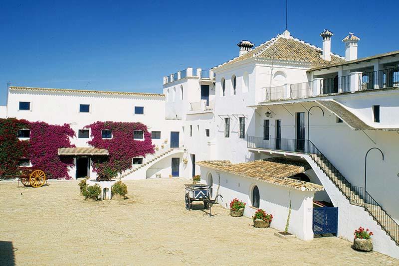 Binnenplaats Cortijo El Esparragal in Spanje