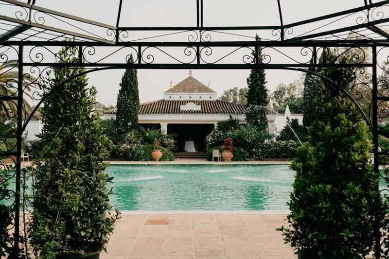 Prieel trouwlocatie Finca Monasterio in Spanje