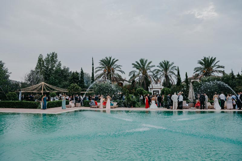 Zwembad trouwlocatie Finca Monasterio in Spanje