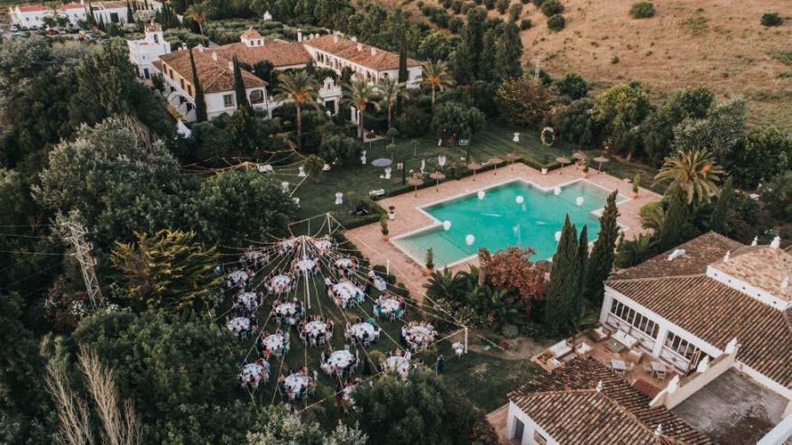 Bruiloft bij trouwlocatie Finca Monasterio in Spanje