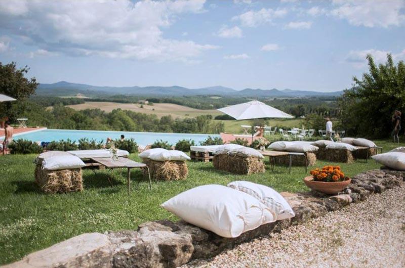 Infinity pool trouwlocatie Tenuta di Papena in Toscane