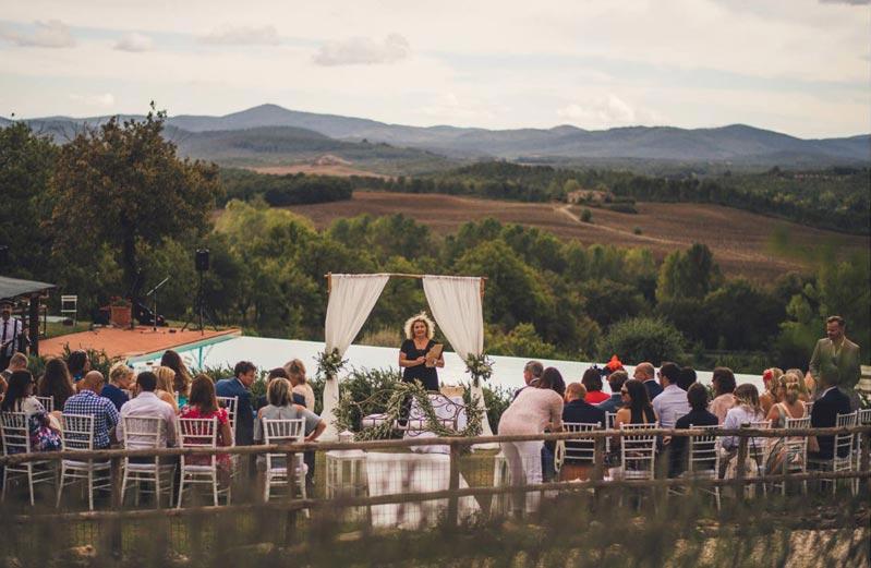 Bruiloft bij trouwlocatie Tenuta di Papena in Italie