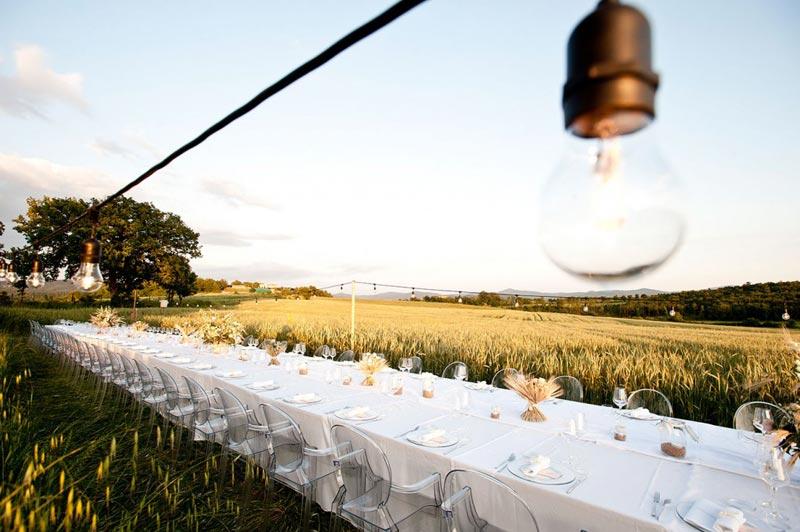 Diner trouwlocatie Tenuta di Papena in Toscane