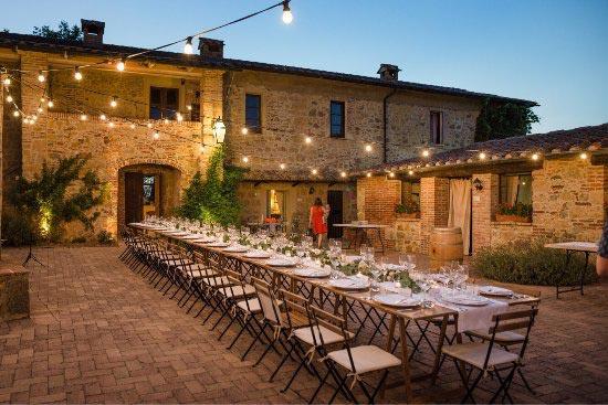 Diner trouwlocatie Tenuta di Papena in Italie