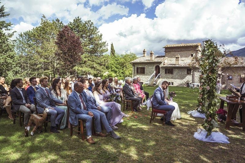 Bruiloft bij trouwlocatie Villamena in Italie