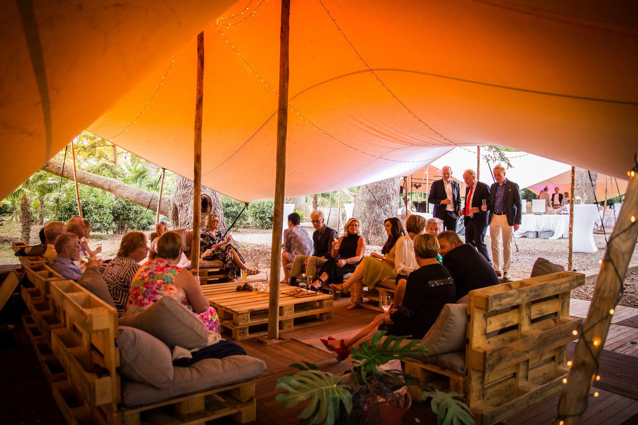Lounge trouwlocatie Chateau de Blomac Frankrijk